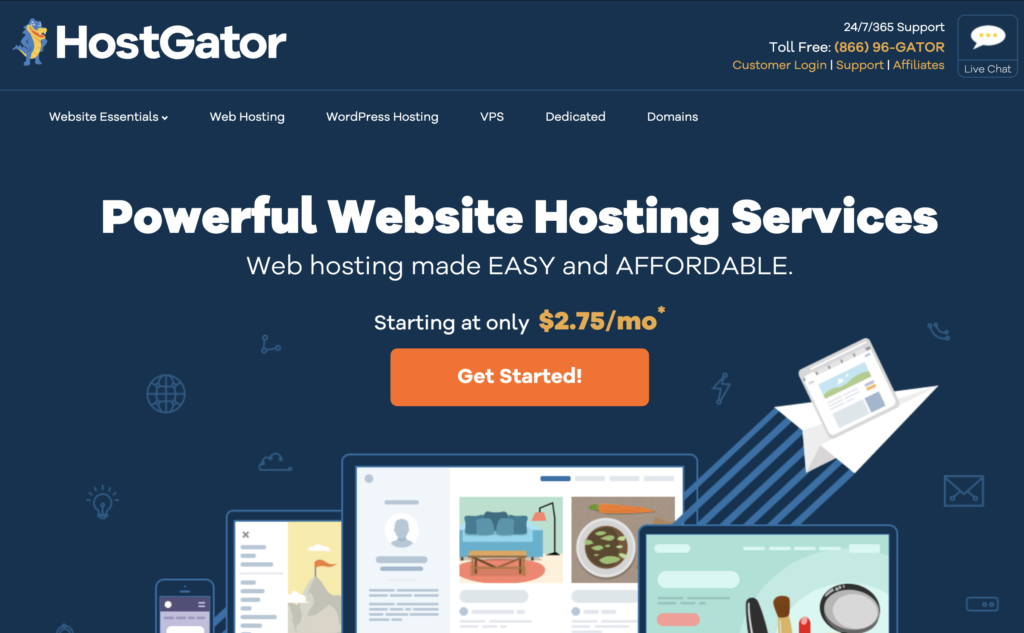 Toronto's Top Left Media Hosting and Domain Provider for Web Design is Hostgator